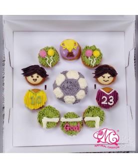 2018世界盃1大10小Cupcake禮盒
