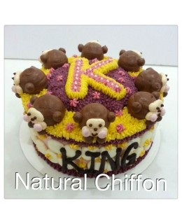 B015(p) 1層猴子蛋糕 約2磅(7吋)