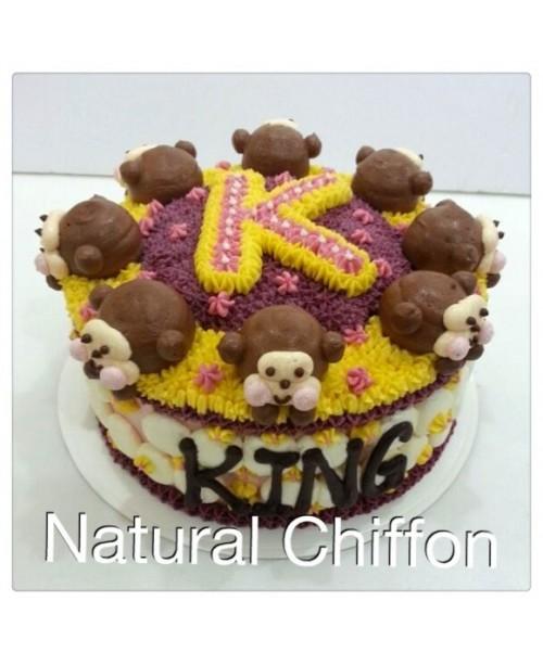 B015(p) 猴子蛋糕 約7吋約2.0磅