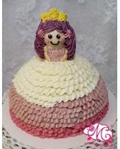 B083 3D公主蛋糕 約7吋2磅