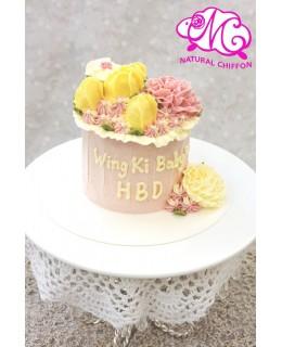 Q005 花花蛋糕 約5吋1.5磅