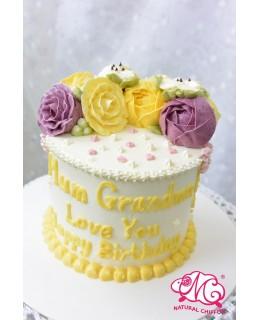 Q006(c) 韓花蛋糕 約5吋1.5磅