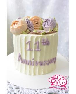 Q008 韓花蛋糕 約5吋1.5磅