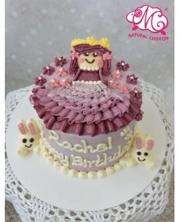 Q013 公主裙蛋糕 約5吋約1.5磅