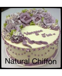 W007 1層漸變紫玫瑰蛋糕 約2磅(7吋)