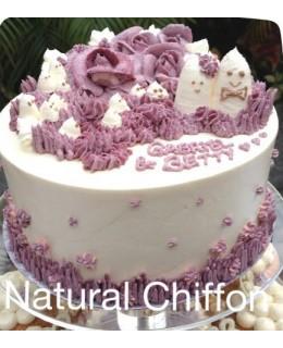 W010 1層精靈紫玫瑰蛋糕 約2磅(7吋)
