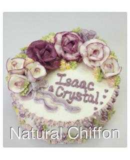 W011 1層雙色紫玫瑰蛋糕 約2磅(7吋)