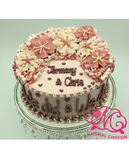 W015(c) 1層櫻花蛋糕 約2磅(7吋)