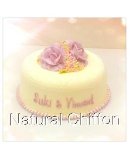 W029 1層粉紅玫瑰蛋糕 約2磅(7吋)