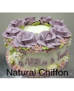 W031 1層粉紫玫瑰花圈 約2磅(7吋)