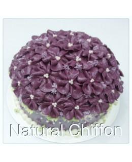 W042 1層紫五瓣花花球 約2磅(7吋)