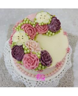 W045 韓花蛋糕 約7吋2磅