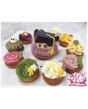 2017畢業男生1大10小Cupcake
