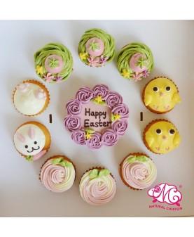 2017復活節1大10小Cupcake