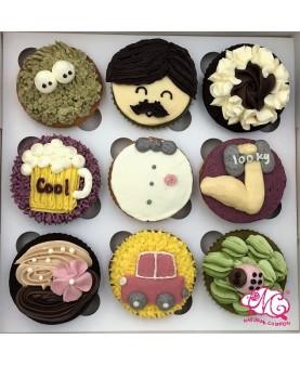2017父親節9件Cupcake禮盒