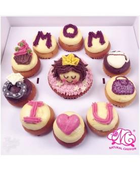 2018母親節1大10小Cupcake禮盒