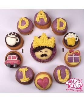 2018父親節1大10小Cupcake禮盒