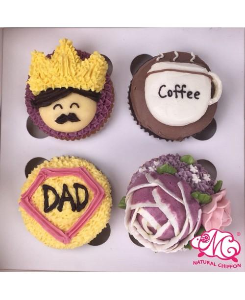 2018父親節4件Cupcake禮盒