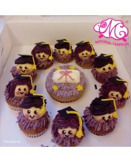 2018畢業生1大10小Cupcake禮盒