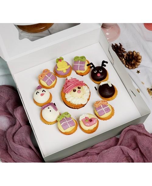 2018聖誕節聯歡1大10小 Cupcake禮盒