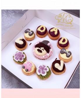 2019父親節1大10小Cupcake禮盒