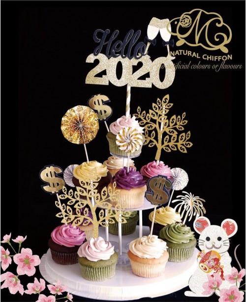 2020賀年免上架Cupcake Tower(12件裝)