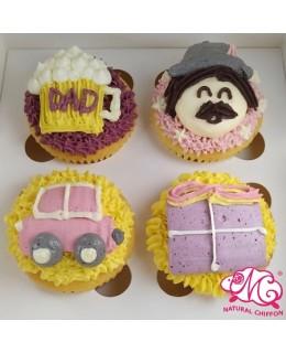 2020父親節4件裝Cupcake