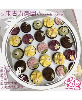 mini cupcake set 6X  朱古力樂園 Chocolate Land