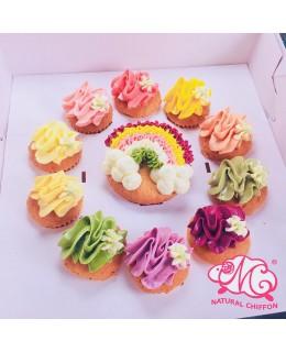 彩虹1大10小Cupcake禮盒