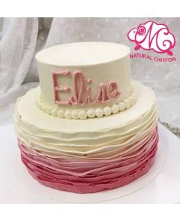 T011 2層蛋糕 底層約7吋約3.5磅